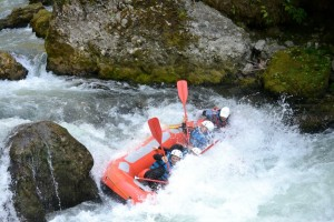 white water raft near Morzine