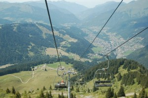 View of Morzine in the summer